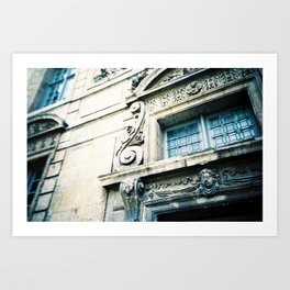 Windows and Faces in Montmarte Art Print