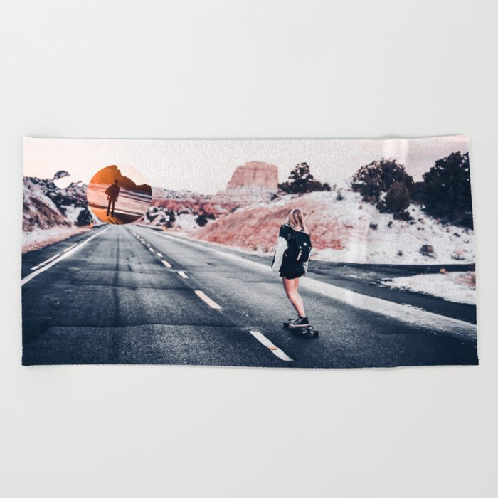 chase your dreams 2 Beach Towel
