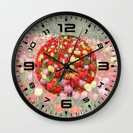 Colorful Tulips #2 Wall Clock