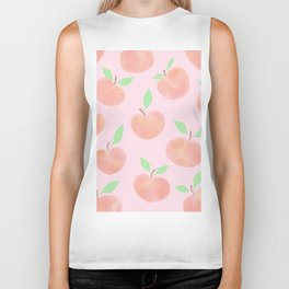 Pastel Pink Summer Peaches Biker Tank