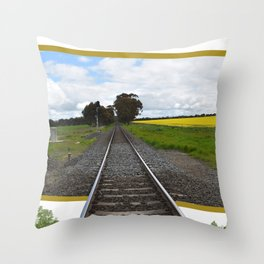 Out of Line Throw Pillow