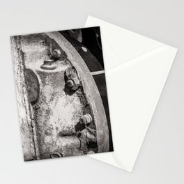 Machine Cog Abstract in Grey Dust Stationery Cards