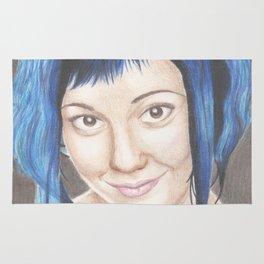 Blue Haired Ramona Rug