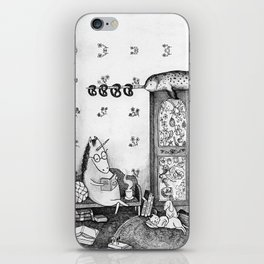 Unicorn house iPhone Skin