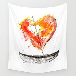 love boat Wall Tapestry