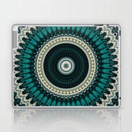 Mandala Fractal in Teal Study 01 Laptop & iPad Skin