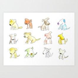 Little Cute Dogs Art Print