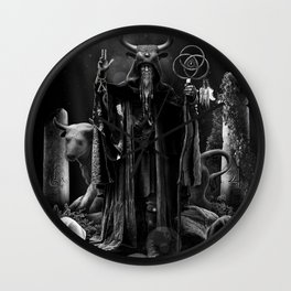 V. The Hierophant Tarot Card Illustration  Wall Clock