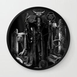 V. The Hierophant Tarot Card Illustration  Wall Clock