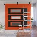 Retro Abstract Tiki Print on Orange by urbanplastic