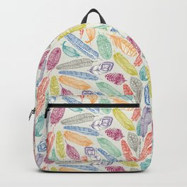 scattered feathers Backpack