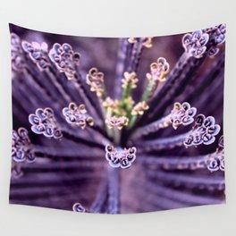Purple Euphorbia in Detail Wall Tapestry