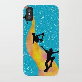 kick, push ... coast! iPhone Case