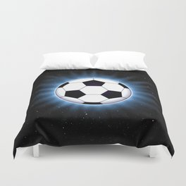 Spacey Soccer Ball Duvet Cover