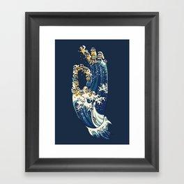 Jnana Mudra of Pug Framed Art Print