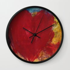 Blood Red Love Wall Clock