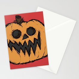 spoopy pumpkin Stationery Cards