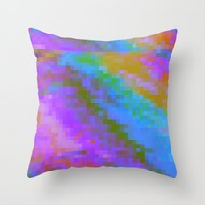 RAINBOW GLITCH ART Throw Pillow