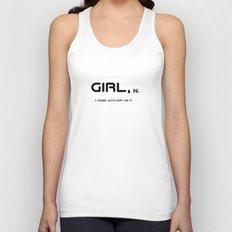 Girl Unisex Tank Top