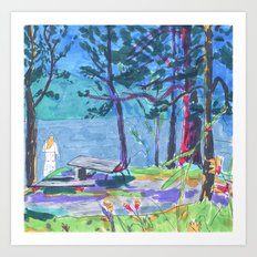 summer camp Art Print