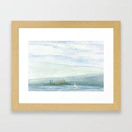 Sail #Society6 #sail #buyart Framed Art Print