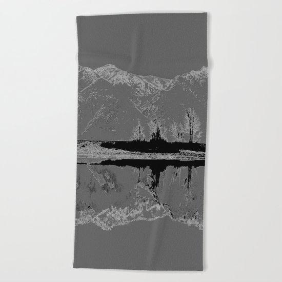 Knik River Mts. Pop Art - 3 Beach Towel
