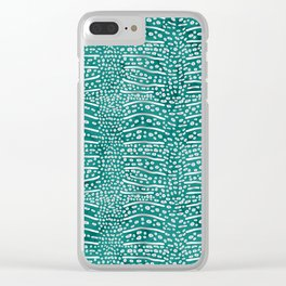 Whale Shark Skin (Teal Color) Clear iPhone Case