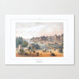 Paris art print Paris Decor office decoration vintage decor LAC BOIS BOULOGNE of Paris Canvas Print