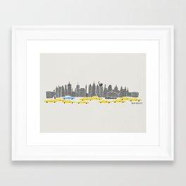 New York City Panoramic Framed Art Print