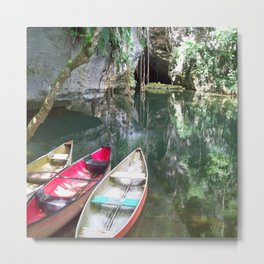 Journey to the Underworld via Belize Cave Metal Print