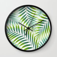 Palm leaves VI Wall Clock