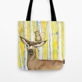 Herbert Finds Home Among the Aspens Tote Bag