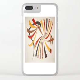 Abstract art 001 Clear iPhone Case