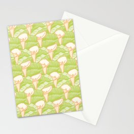 Calla Lily with Leaves Pattern Stationery Cards