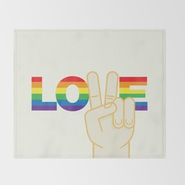 Peace and Love Throw Blanket