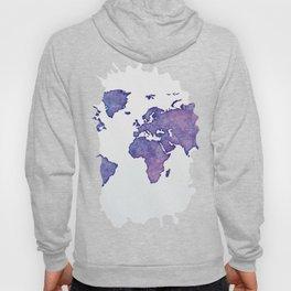 Purple World Map 02 Hoody