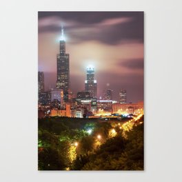 City of Chicago Skyline Over the Trees Canvas Print