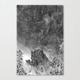 Rocks in the falls Canvas Print