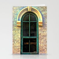 the office Stationery Cards featuring Law Office by Biff Rendar
