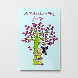 Valentine Hug for you Metal Print