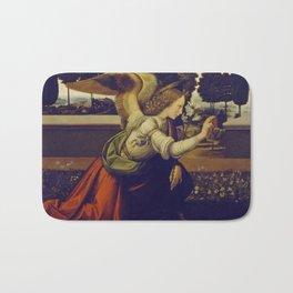 """Leonardo da Vinci """"Annunciation"""" The Archangel Gabriel Bath Mat"""