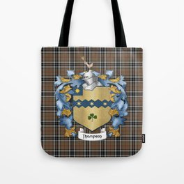 Thompson Crest and Tartan Tote Bag