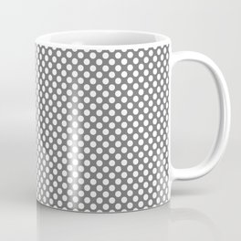 Steel Gray and White Polka Dots Coffee Mug