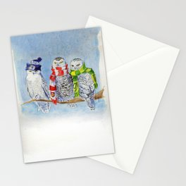 Football Owl Stationery Cards