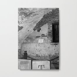 Powder Magazine B&W Metal Print