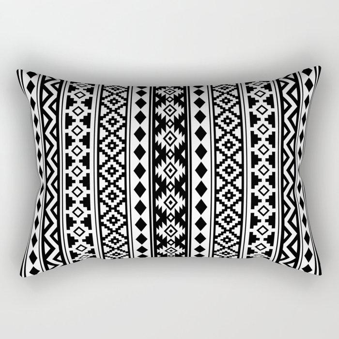 Aztec Essence IIb Black & White Rectangular Pillow