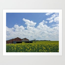 Abandoned Barn in the English Countryside Art Print
