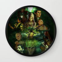 dragon age inquisition Wall Clocks featuring The Inquisition by Nero749