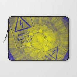 Abstract risk of electric shock Laptop Sleeve