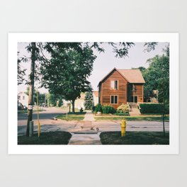 shitty home town Art Print